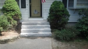 Completed stairs - waiting for custom railing fabrication to be completed